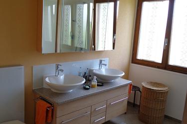Doppel Waschtisch mit Spiegel